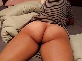 Asian Thick Ass Milf - Relaxing on her bed