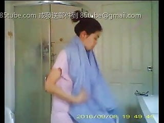 Chinese girl shower voyeur