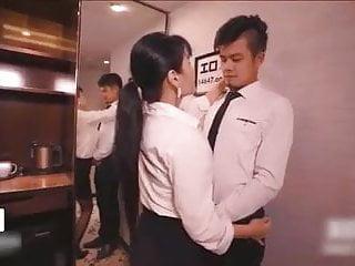 Chinese Female Boss And Employee