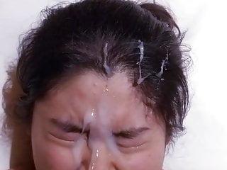 Amateur Asian facial 3