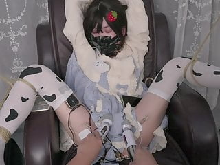 Chinese bondage and tape breathplay