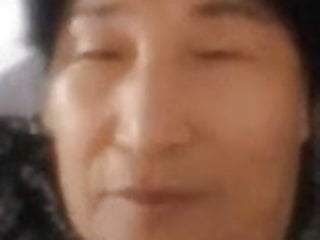 Chinese Granny does webcam show