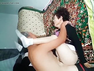 Amateur Asian old couple