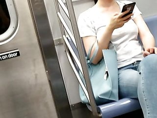 Asian Chinese fob nerdy on the train