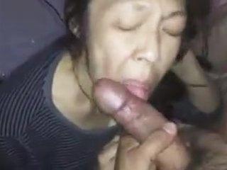 Chinese mature sucking dick