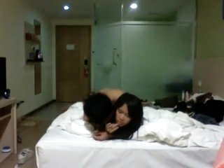 cute chinese young couple