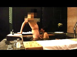 Chinese girl blowjob in spa