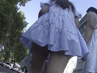 Asian Milf Upskirt, Nice thong