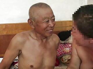 Chinese grandpa fucks whore
