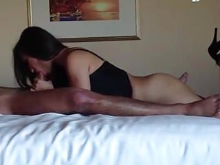 Horny Asian Wife Sucking Friends Cock