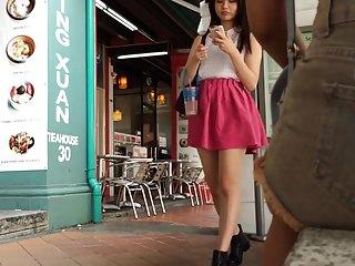 Taiwanese girl upskirt in sg