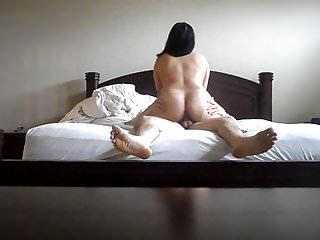 Asian Wife Riding Cock Backside Big Ass BBW